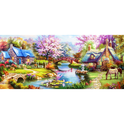 Scenery DIY Full Drill Round Drill Diamond Painting(50x100cm)