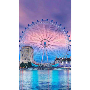 Ferris Wheel DIY Full Drill Round Drill Diamond Painting(30x48cm/11.81x18.9in)