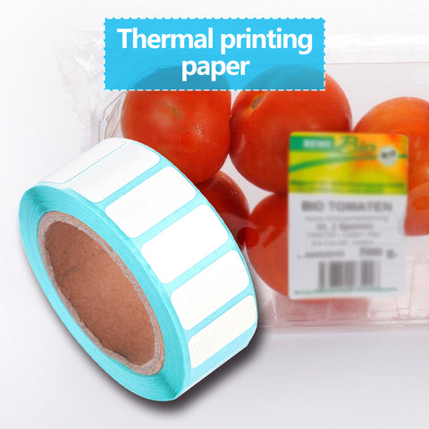 Waterproof Adhesive Thermal Paper Label Blank Print Stickers (2000pcs/Roll)