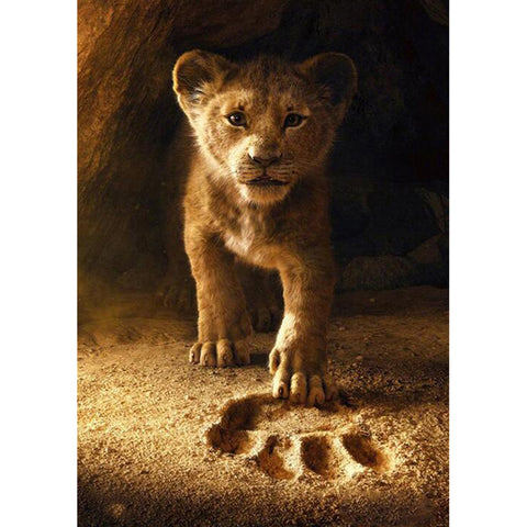 Lion Picture DIY Full Round Diamond Painting(30*40)CM