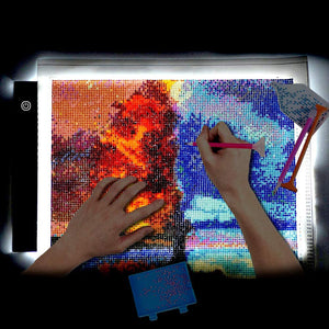 A4 Digital Graphics Tablet LED Drawing Board Light Box Diamond Painting Copy Board