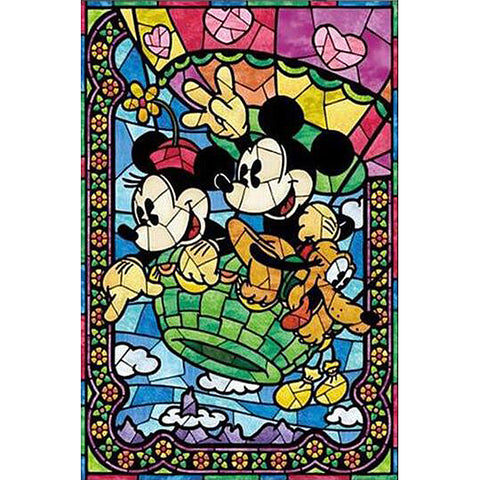 Mickey and Minnie DIY Full Drill Square Drill Diamond Painting(40x50cm/15.7x19.7in)