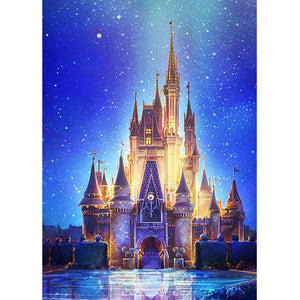 Disney Castle DIY Full Drill Square Drill Diamond Painting(40x50cm/15.7x19.7in)