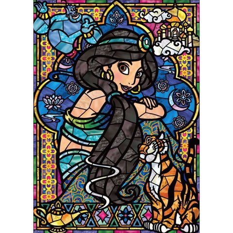 Jasmine Princess DIY Full Drill Square Drill Diamond Painting(40x50cm/15.7x19.7in)