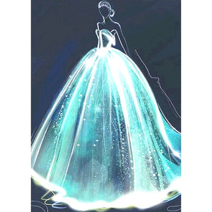 Wedding Dress Beauty 5D DIY  Partial Drill Diamond Painting(30*40)CM
