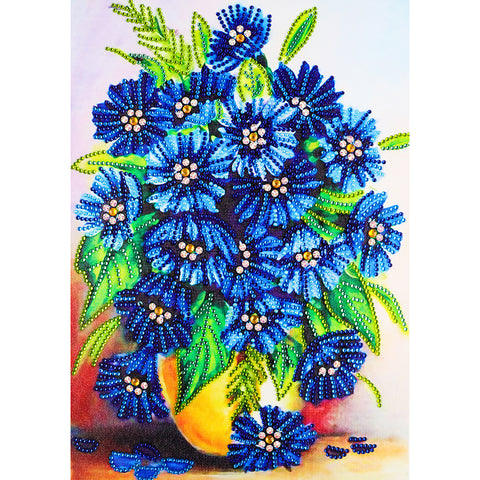 Flower 5D DIY Special Shape Part Drill Diamond Painting(30*40)CM