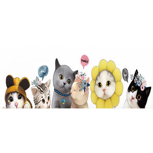 Mosaic Lovely Kitten 5D DIY Full Round Drill Diamond Painting(30*40)CM