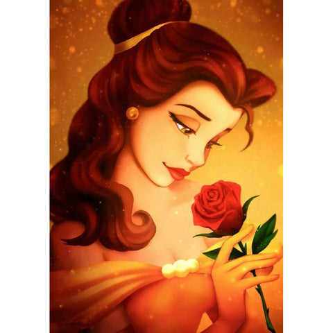 Bella Princess DIY Full Drill Square Drill Diamond Painting(40x50cm)