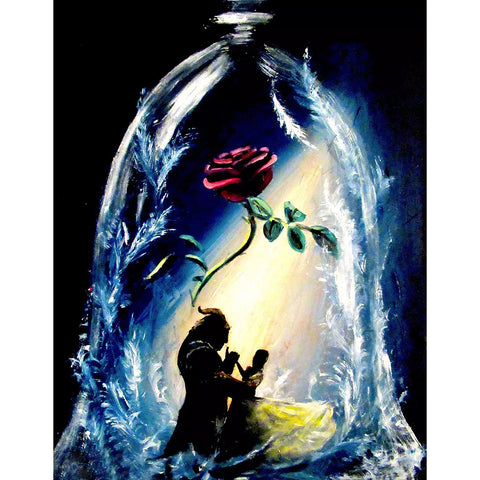 Beauty and the Beast DIY Full Drill Square Drill Diamond Painting(40x50cm)