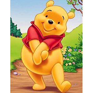 Winnie the Pooh DIY Full Drill Square Drill Diamond Painting(40x50cm)