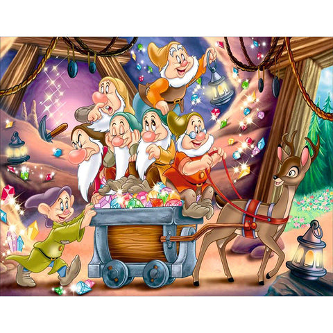 Seven Dwarfs DIY Full Drill Round Drill Diamond Painting