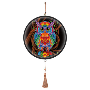 Owl Diamond Painting Coffee Tassel Crystal Rhinestones Partial Drills Home Decor