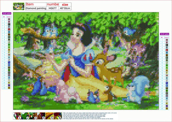 Snow White 5D DIY Full Drill Round Drill Diamond Painting