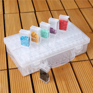 64 Slots Bottles Diamond Painting Beads Storage Box Plastic Rhinestone Holder