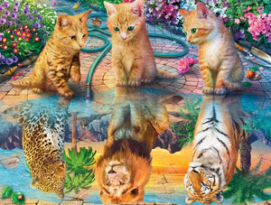 Cats or Lions 5D DIY Full Drill Round Drill Diamond Painting