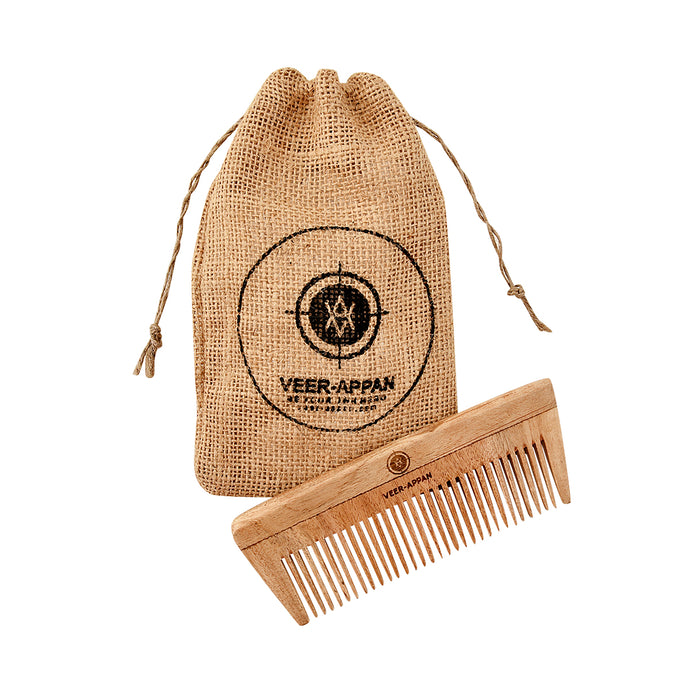 Veer-Appan Neem Wood Comb