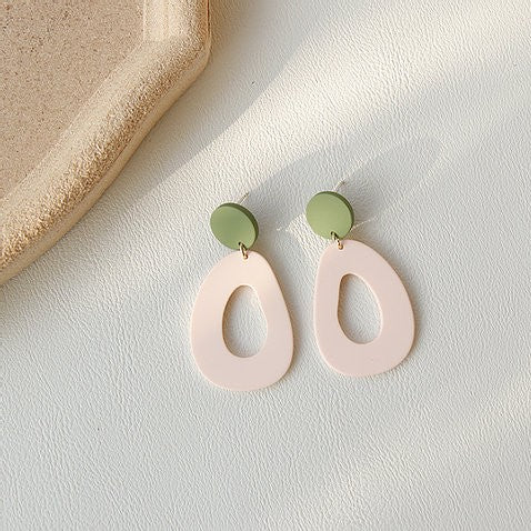 GREEN & PINK EARRINGS