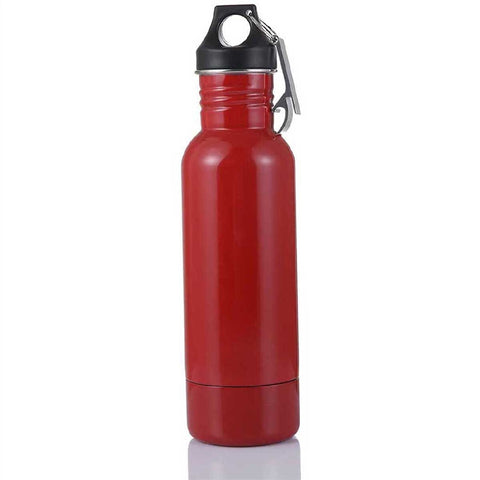 RED STAINLESS DUAL PURPOSE TOGO BOTTLE