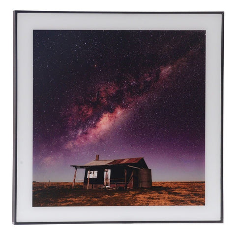 BUSH HUT WALL ART 50 X 50 CM