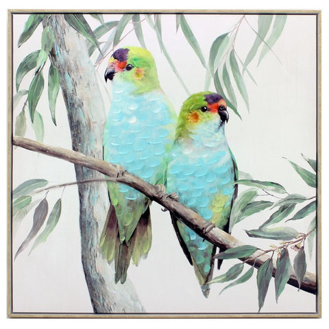 Purple-Crown Lories Painting