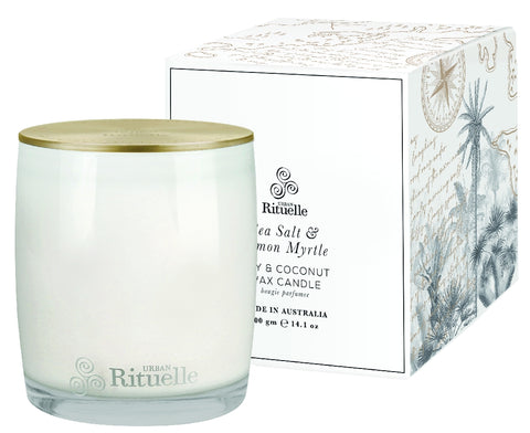 CANDLE - SEA SALT & LEMON MYRTLE 400G