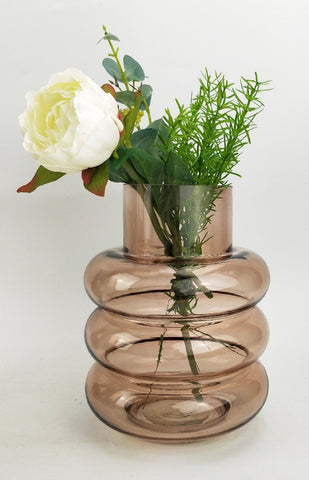 TOMMY RING GLASS VASE - ROSE MEDIUM