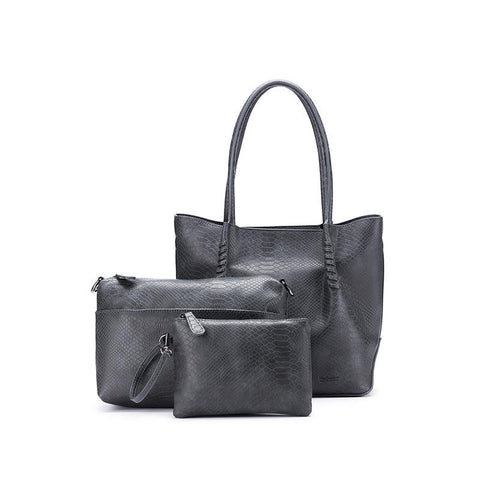 3 Piece Handbag - Audrey Grey