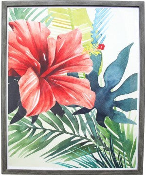 FRAMED PRINT TROPICAL FLOWER