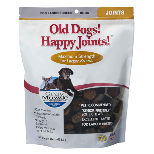 Gray Muzzle Old Dogs! Happy Joints! Max Strength