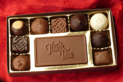Gift Box with Chocolate Bar Message