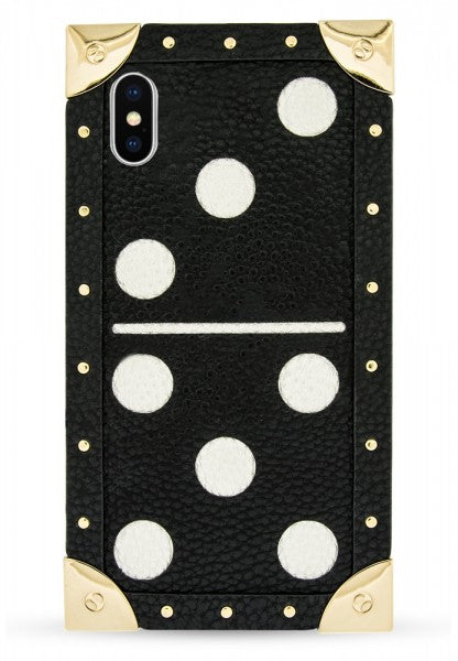 Iphoria Veggie Leather Shoulder Trunk Case Domino Black - for iPhone X