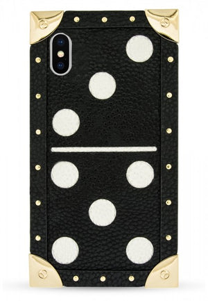 Iphoria Veggie Leather Shoulder Trunk Case Domino Black For Iphone X - Main Image