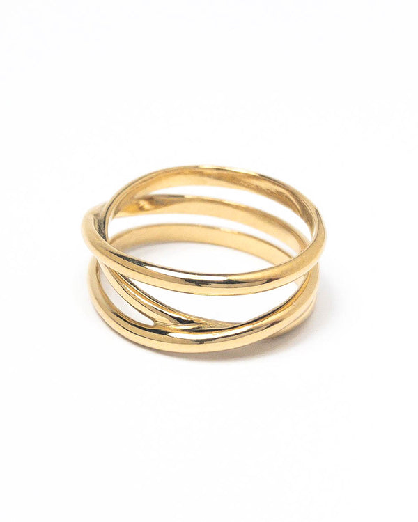 Maria Black Ring Emilie Wrap High Polished Gold