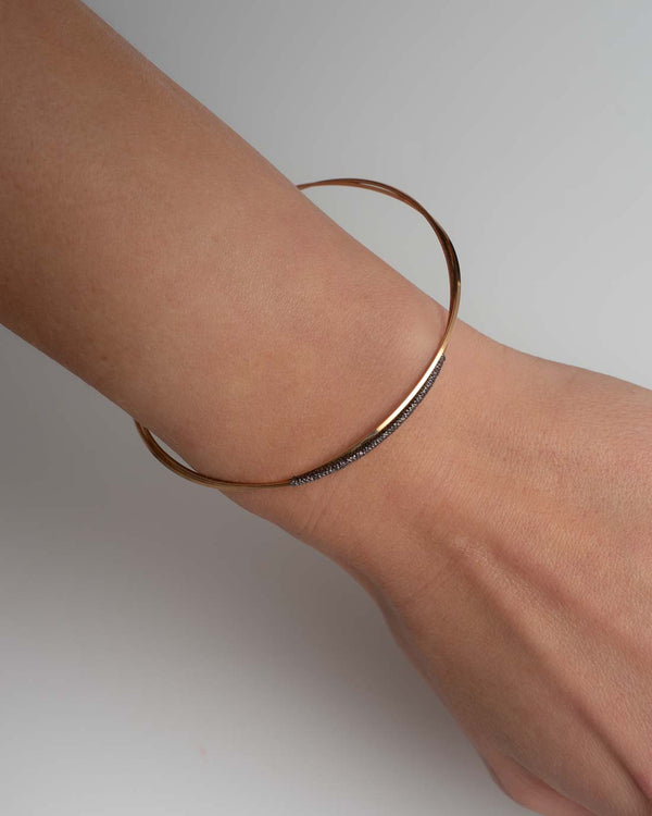 By Boe Armreifen Wire vergoldet - gunmetal