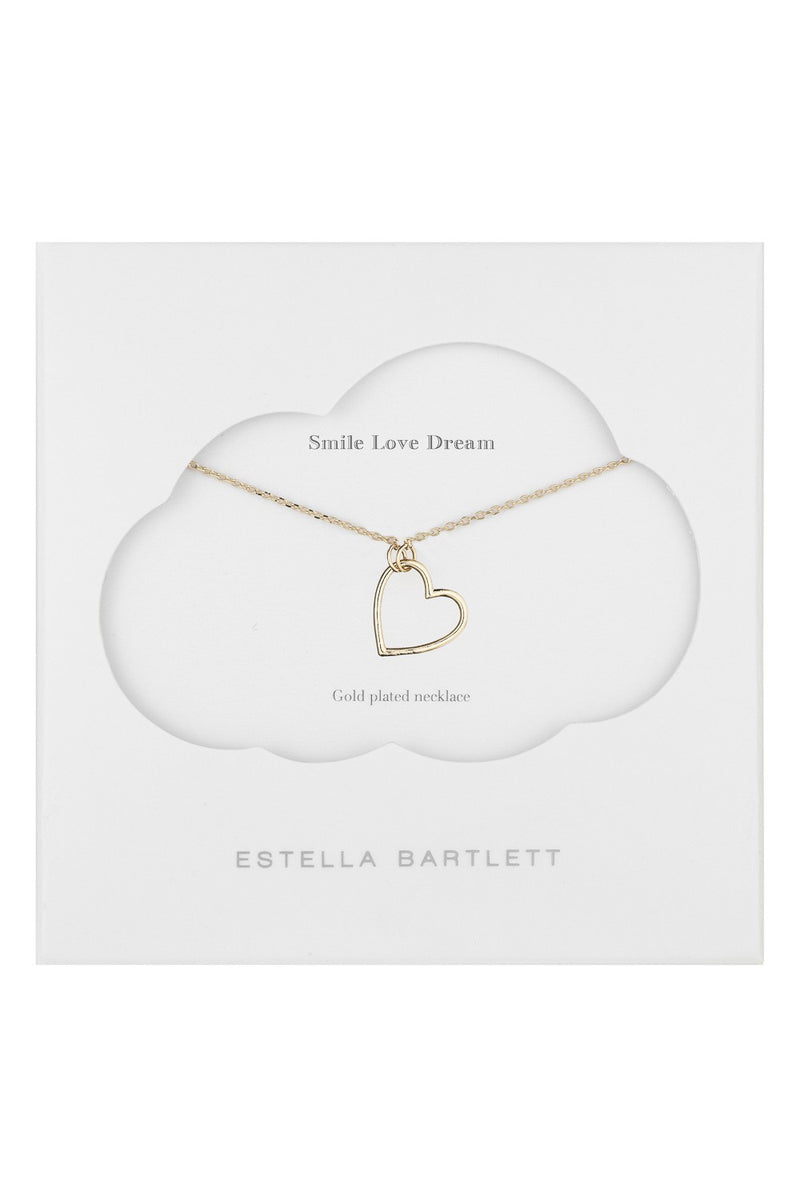 Estella Bartlett Halskette Open Heart vergoldet