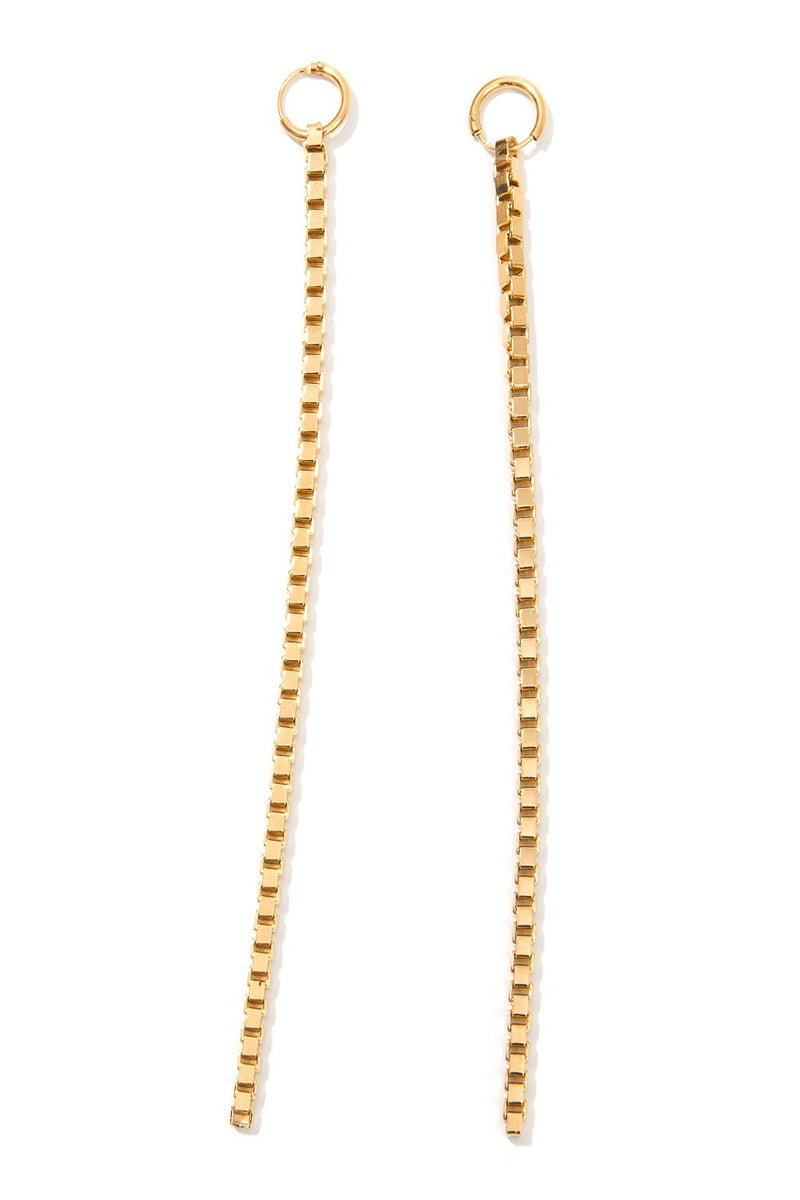 Malaika Raiss Ohrringe Curb Chain Vergoldet Gold - Main Image