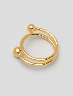 Maria Black Body Spiral Ring Vergoldet Gold- Detail Image 1
