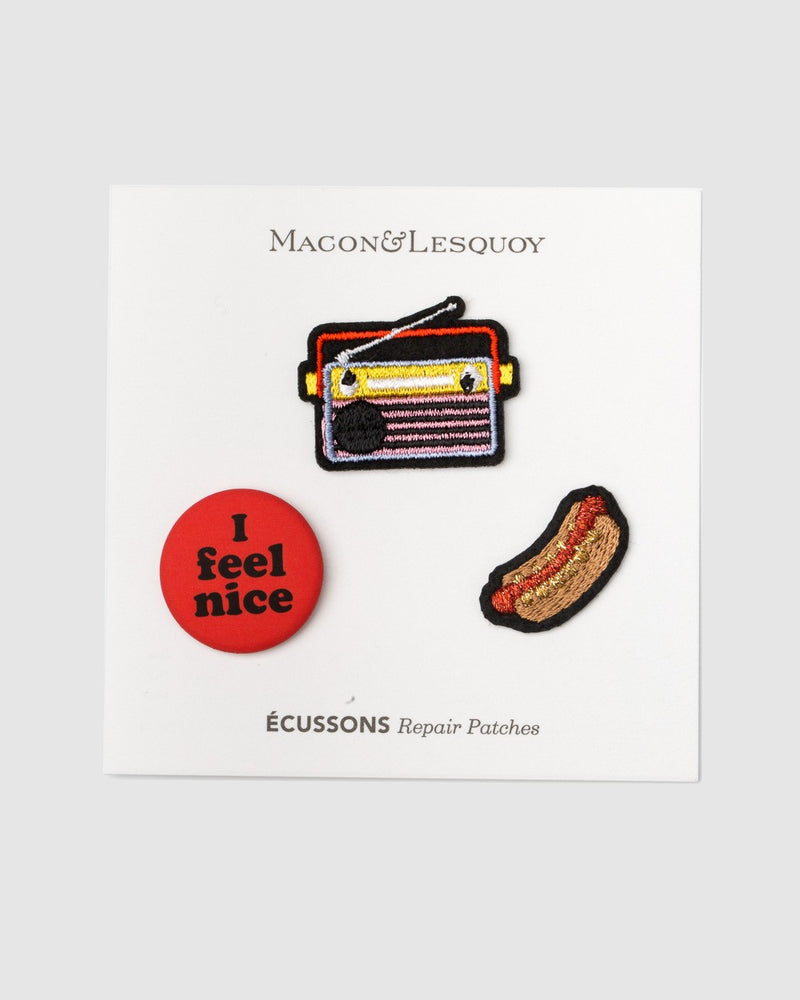 Macon Lesquoy Bugelpatch Set Hot Dog And Radio - Detail Image 1