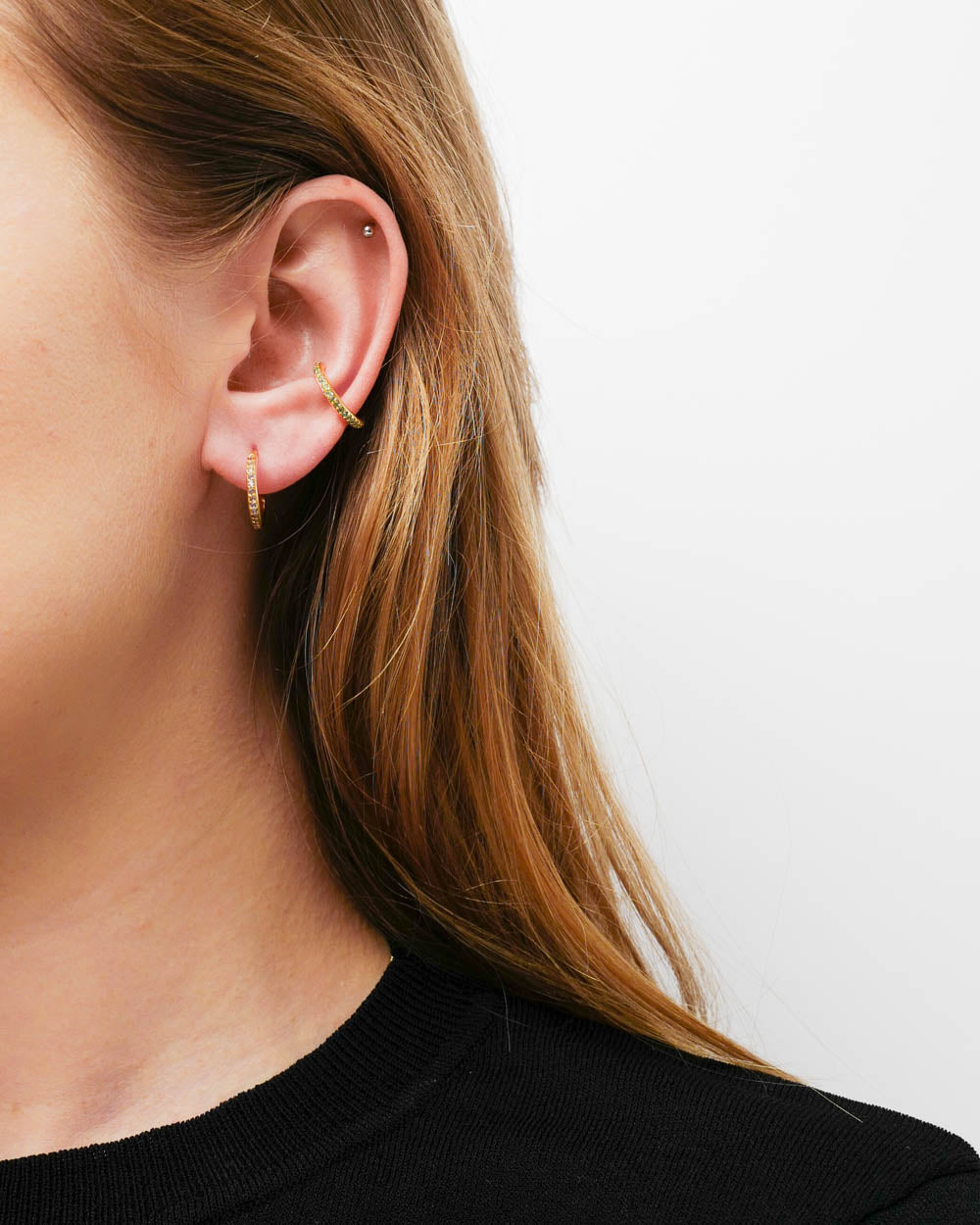 Maria Black Earcuff Colore Mint Gold - Detail Image 1