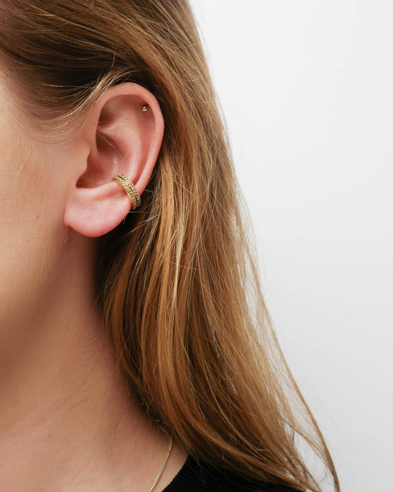 Maria Black Earcuff Colore Violet Gold - Detail Image 1