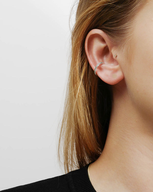 Maria Black Earcuff Colore Mint Silber - Detail Image 1