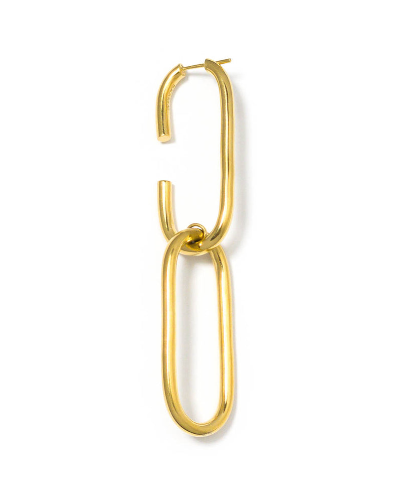 Maria Black Ohrring Oval Link Gold - Main Image