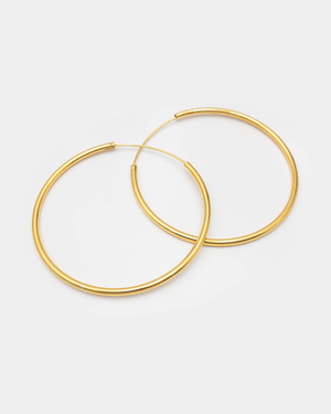 Pernille Corydon Creolen Large Plain Hoops 50 mm