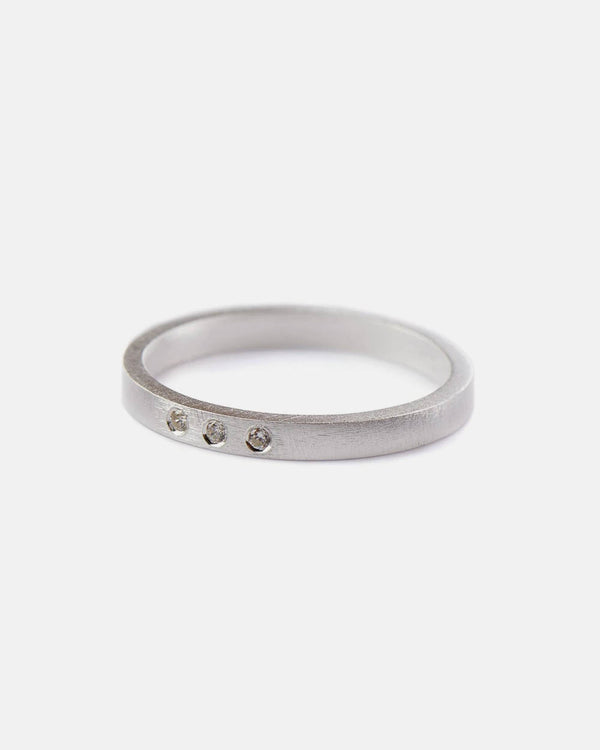Pernille Corydon Ring Petite Alliance Triple Grosse 55 Silber