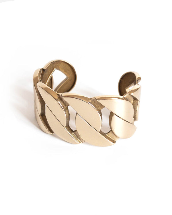 Saskia Diez Armreif Grand Cuff Messing Gold - Main Image