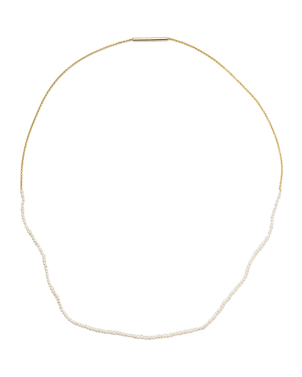 Saskia Diez Halskette Fine Pearls and Chain - 18 Karat Gold