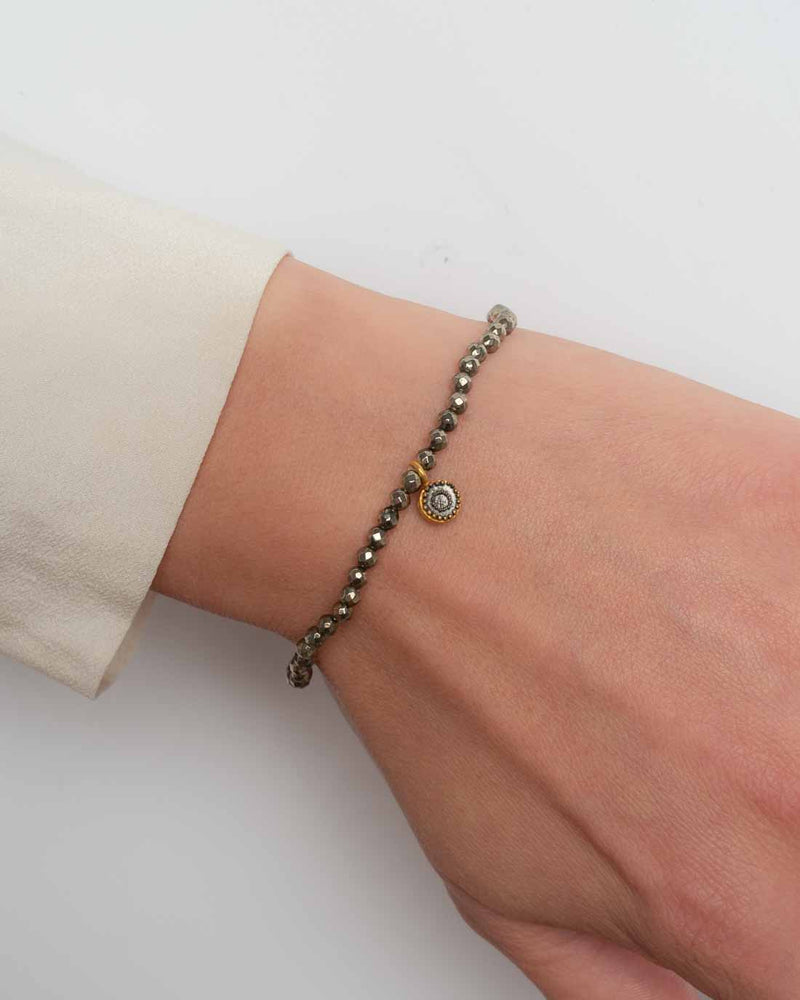Satya Armband Strength of Moon mit Pyrit
