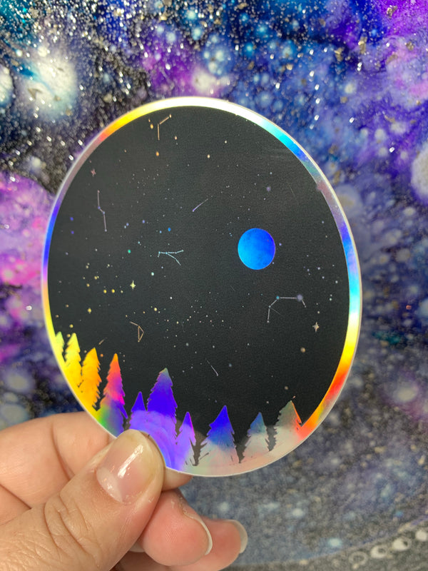 Night Sky - Holographic Sticker