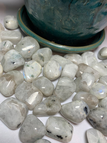 Rainbow Moonstone (Tumbled)