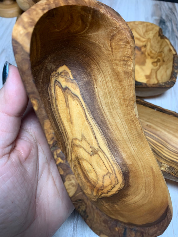 Olive Wood Small Natural Bowl/Rustic Catchall